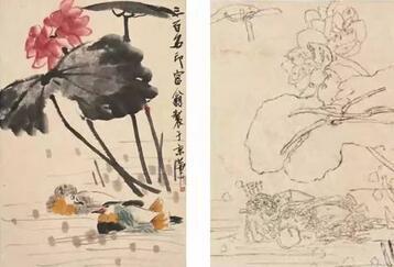 齐白石的素描速写手稿,一代大师背后的功夫