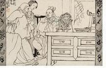 海派大师程十发人物,风景绘画手稿