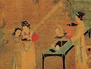 博物馆里的中国古代美女仕女图