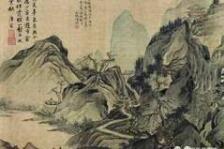 [明]唐寅山水八段图卷欣赏