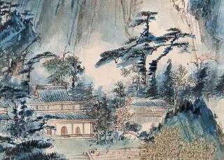 民国国画大师胡也佛山水画:笔墨苍劲有力,结构严谨自如!