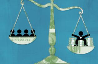 世界人口中最富有的1%已经拥有了全球总财富的半壁江山