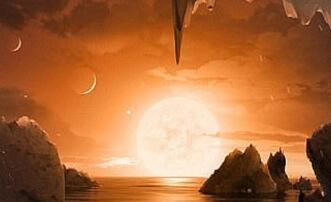 一个与太阳系相似的恒星系统里的两颗行星具有生命存在的环境