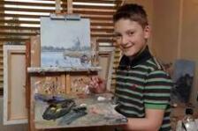 英国天才小画家才11岁时,已靠画画成为了千万富豪