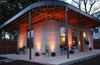美国一家叫做ICON创业公司通过3D打印水泥房屋 每平米约1000元