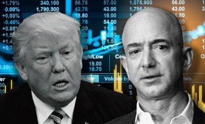 """特朗普再次""""炮轰""""贝索斯 亚马逊市值四个交易日蒸发约890亿美元"""