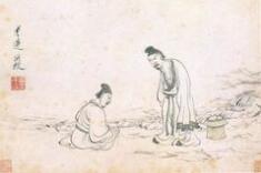 明代陈洪绶人物画欣赏《隐居十六观图册》