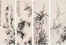 历代名家的梅兰竹菊成为中国人感物喻志的象征