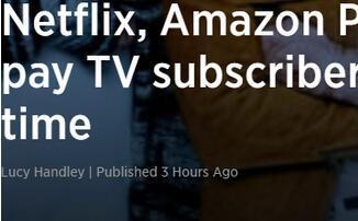 英国视频流媒体用户首次超越付费电视