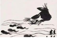 齐白石笔下的水族画很是精妙有趣