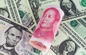 27日在岸人民币兑美元官方收盘报6.8246  较上日跌421点