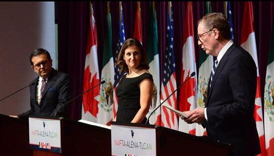 美加两国分歧巨大 本周依然无法就NAFTA达成协议