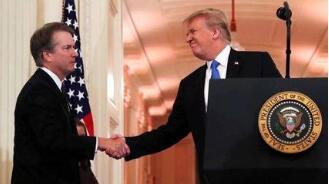 特朗普提名的最高法院大法官布雷特·卡瓦诺获得美国参议院通过