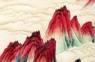 张大千笔下最美的云海   至美的人间仙境