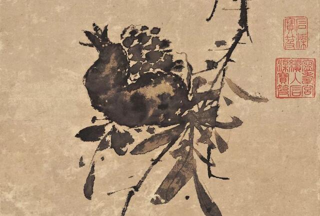 千古奇才:徐渭传世名画《榴实图》解析