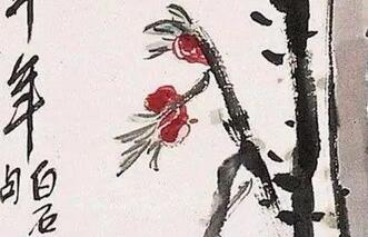 齐白石的桃花:桃花流水鳜鱼肥