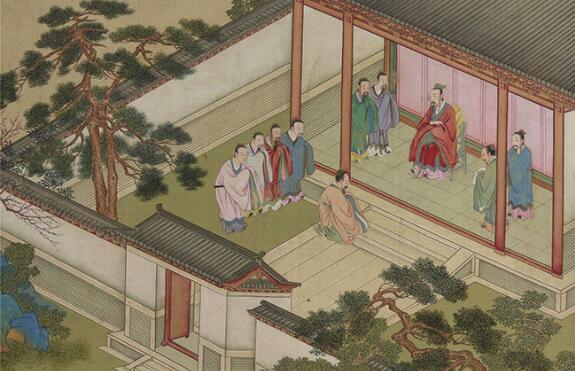 古代帝王启蒙课本《帝鉴图说》-明朝张居正与万历皇帝