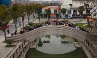 世界最大规模3D打印混凝土步行桥在上海 落成启用