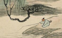 齐白石山水画中的点景小人
