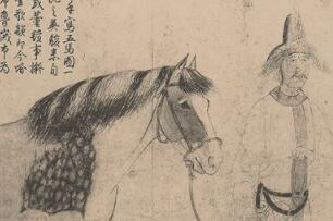宋代的李公麟独特的白描画马,更是技法一绝