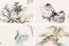 王雪涛、陈玄厂《花鸟山水册》欣赏