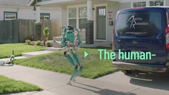 福特汽车的送货机器人像人一样走路