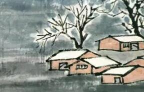 齐白石28岁画的雪山行旅图,和后来的风格大有不同