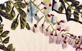 齐白石紫藤花  画里有风  飞蛇舞乱