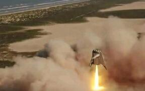 """SpaceX""""星舰飞船原型""""创造悬浮150米新纪录"""