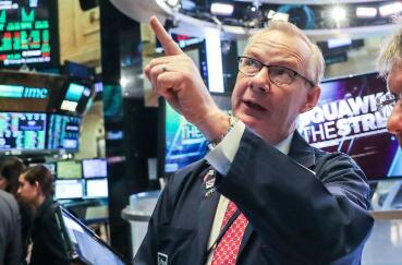 纽约股市15日上涨 道指上涨237.44点  通信服务板块和金融板块领涨