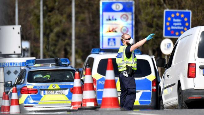 由于欧洲国家报告冠状病毒死亡人数激增,德国封锁边境