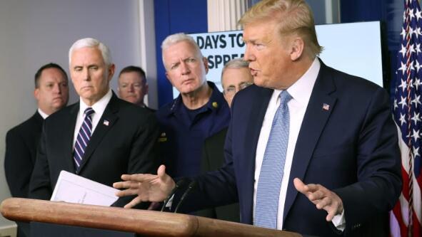 """特朗普表示COVID-19危机可能延续到八月,可能会针对""""某些地区""""进行锁定"""