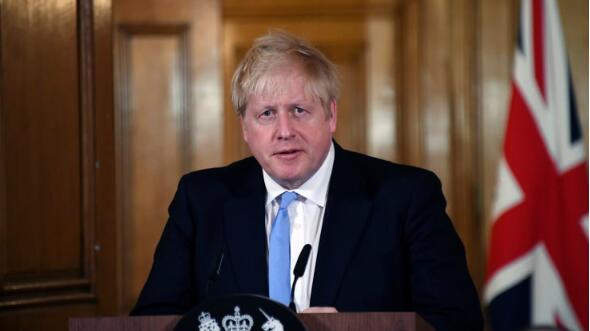 """英国首相鲍里斯·约翰逊(Johnson)新冠病毒检测呈阳性,目前出现""""轻微症状"""""""