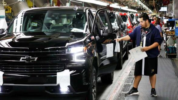 自5月18日重启生产以来,通用汽车增加美国的皮卡生产
