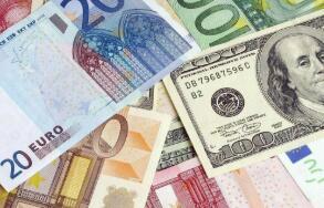 欧元兑美元周一从四个月高点回落
