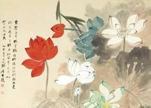 张大千:画荷需用正、草、篆、隶四种书法技巧!