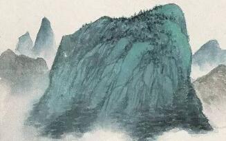 吴湖帆山水国画作品欣赏