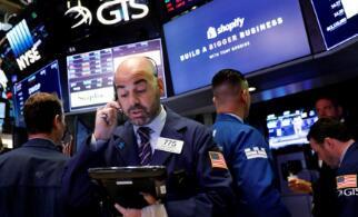6月9日美股三大股指集体收跌,道琼斯指数收盘下跌150点