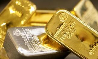 6月15日国际金价下跌0.5%,钯金上涨0.2%