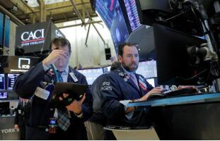 7月16日美股下跌,道琼斯指数跌近300点,大型科技股全线走低