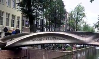 荷兰阿姆斯特丹3D打印钢制桥梁竣工