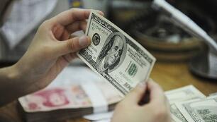 10月20日,人民币对美元中间价调升238个基点